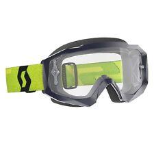 2019 Scott Hustle X MX Tear Off Goggles Motocross Yellow Blue - Clear Works Lens