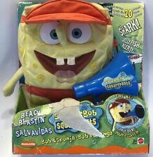 New Mattel Beach Blastin Spongebob Squarepants Talking Plush Viacom 2002