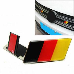 Car German Flag Grille Grill Emblem Badge Decal Sticker For BMW Audi VW Fashion