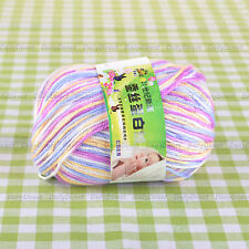 Wrosted Soft 50g Skein Wool Cashmere Silk Baby Knitting Yarn Sport - 20 Colours