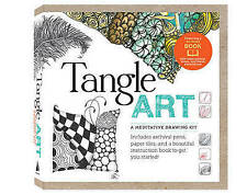 Tangle Art: A Meditative Drawing Kit: Includes archival pens, paper tiles, and a