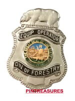 CDF Equipment Operator CA Department Of Forestry Fire Pins Lapel Hat Fire Pin@!@