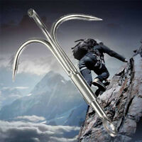 304 Stainless Steel Outdoor 3 Claws Grappling Hook Climbing Survival Carabiner /