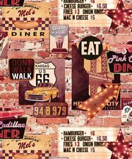 ARTHOUSE RETRO 60s USA CAFE AMERICAN DINNER QUALITY FEATURE WALLPAPER 889600