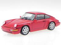 Porsche 911 964 Carrera 4 red 1991 diecast modelcar Atlas 1:43
