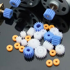 Hot Hazlo tú mismo Mini Gusano corona engranajes de plástico Cinturón Polea Eje Robot Motor Gear Set Juguete