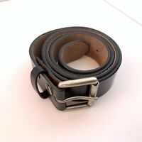 Vintage Nine West Black Genuine Leather Belt Size XL