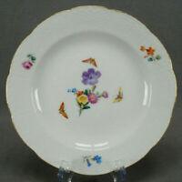 KPM Berlin Hand Painted Dresden Floral Butterflies & Gold Luncheon Plate C1915 B