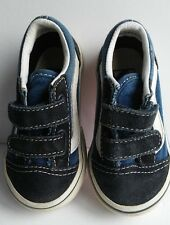 Vans Off The Wall Boys Girls Size 5 Suede & Canvas Shoes Sneakers Blue & White