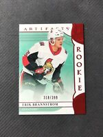 2019-20 UPPER DECK ARTIFACTS ERIK BRANNSTROM ROOKIE RUBY RED #ed 318/399