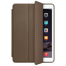 For iPad Air 2 Genuine Leather Smart Case Cover Slim Wake Dark Brown Salable