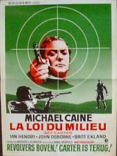 GET CARTER Belgian movie poster MICHAEL CAINE 1971 NM