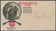 """REMINGTON UMC GUN COVER """"HUNTER ENCOUNTERS BEAR ON MOUNTAINS"""" SCARCE BS4662"""