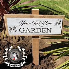 Custom Garden Stake Sign: Classic, Gardening, Personalised, Plant, Gift