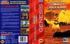 Samurai Shodown Sega Genesis NTSC Replacement Box Art Case Insert Cover Scan