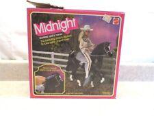 Vintage 1981 Barbie's Horse Midnight Black Stallion, Saddle & Bridle