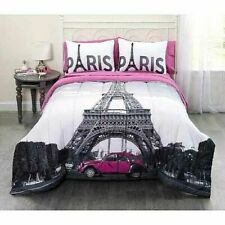 Casa Photo Real Paris Eiffel Tower Bed in a Bag Bedding Set, Twin Size