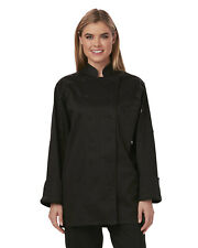 NWT DICKIES WOMEN'S EXECUTIVE CHEF COAT IN BLACK DC413