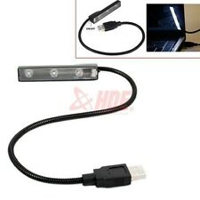 USB LED Light Black Flexible Laptop Lamp Bright PC Computer Desk Notebook Table