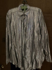 Vintage Blouse By Year Of Metallic Rainbow SnakeskIn L Button Down Shirt