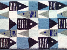 "Coastal Living Collection ""Sea Life"" Hand Made in USA Wool Rug Christmas Present"