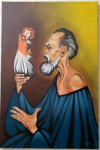 RAFAELCORONEL, Nice oil painting on canvas, signed, good condition.