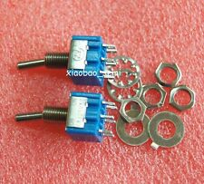 10pcs New Mini MTS-202 6-Pin SPDT ON-ON 6A 125VAC Toggle Switches