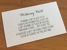 50 x IVORY Wishing Well Cards - Printed And Cut - Wedding Invitations - DIY