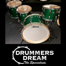 "Ludwig Classic Maple 4 Piece Drum Kit Shell Set Green Sparkle with 26"" Bass Drum"