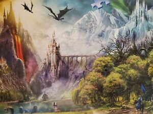 Ravensburger Reign Of Dragons 3000 Piece Puzzle -New- Rare Find.