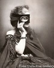 Woman With a Cardboard Picture Frame Mask  - Historic Photo Print