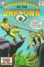 """Challengers Of The Unknown #44 Very Good """"Curse of the Evil Eye"""" Dc Comics 1965"""