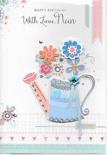 ISABELS GARDEN,  NAN BIRTHDAY CARD,3D HANDMADE.TOP QUALITY,WATERING CAN(N4