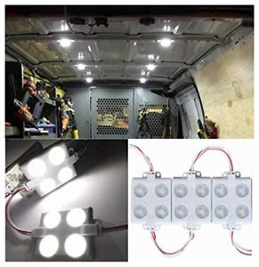 12V 40 LEDs Van Interior Lights White LED Lamp Waterproof with LED Project Lens