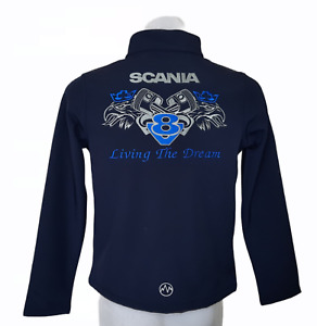 LIVING THE DRERAM V8 LORRY SOFT SHELL JACKET EMBROIDERED ADULT UNISEX LADIES