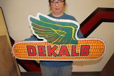 "Vintage 1950's Dekalb Flying Ear Seed Corn Farm 32"" Sign Right Facing"