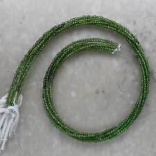 Chrome Diopside Faceted Rondelle 2mm Semi-Precious Gemstones