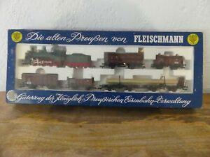 FLEISCHMANN COFFRET set complet LOCOMOTIVE + WAGONS KPEV HO 4883 No LIMA JOUEF