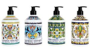 Deruta Perugia Hand Soap Collection : 4x636ml Bottles Made in USA