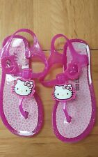 Hello Kitty Pink Jelly Shoes Sandals Beach Shoes water~ UK infant 12 worn twice