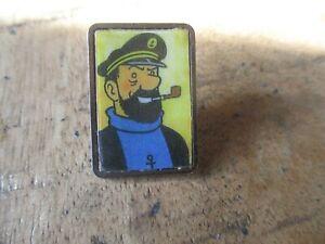 Tintin&Hergé-Pin s collector-Portrait Haddock pipe-Dos argenté