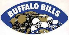 Buffalo Bills  Ball  NFL Football  1960's  Vintage Looking  Sticker Decal