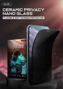 iPhone X / iPhone XS / iPhone 11 Pro Privacy 100D Atouchbo Premium Nano Ceram...