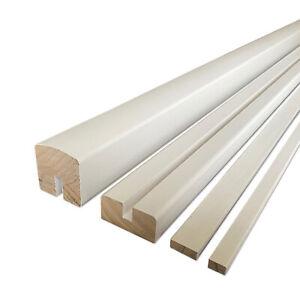 White Primed Vision Handrail & Baserail Set for Glass Panel 8mm