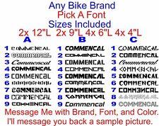 Custom Pick a Font Bike Brand Set. Santa Cruz Cannondale Pivot Ibis Scott