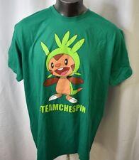 Pokemon Mens #TeamChespin Team Chespin Shirt New 2XL