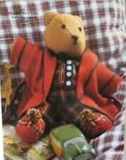 "Knitting Pattern For Teddy Bear In Pyjamas & Dressing Gown 14"" In Height"
