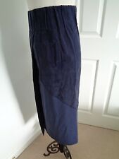 BNWT Crea Concept Navy Wrap Over Style Skirt  size 38 (UK 10)
