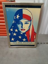 WOOD FRAME WE THE PEOPLE ARE GREATER THAN FEAR WOMEN MARCH 27X39 SHEPARD FAIREY