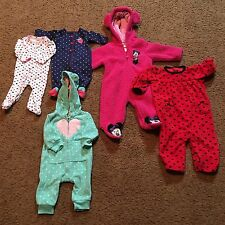 Baby Clothes Pajamas Sleeper Carters Disney 3 Months 6 Month 9 Month Lot Of 5